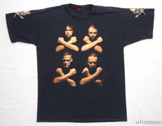 """METALLICA . LENGTH- 29"""" (next to collar to bottom). Sizing differs between eras, makers and previous wear. Estimated Modern Size- L/XL. 