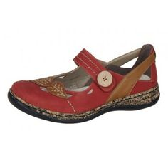 Rieker 46356-34 Daisy red/tan Now From £51.95