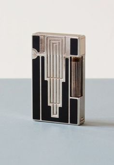 S.T. Dupont, Lighter, 1930. Silver plated, laque de chine. Via zeitlos, Berlin