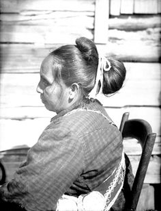 Choctaw Indians | Choctaw Indians: Woman in Partial Native Dress with Native Choctaw ...