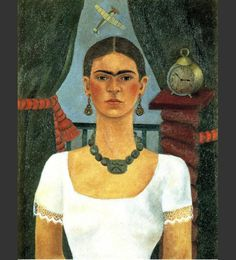I must include a frida kahlo painting ~ Self Portrait, Time Flies, 1929