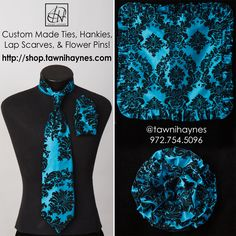 Custom Made Ties, Hankies, Lap Scarves, Flower Pins, & more! Order @ http://shop.tawnihaynes.com/ , call 972-754-5096, email sales@tawnihaynes.com, or comment below ! Blessings!