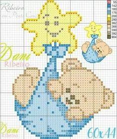 Baby Cross Stitch Patterns, Cross Stitch Baby, Cross Stitch Charts, Cross Stitch Designs, Cross Stitching, Cross Stitch Embroidery, Modele Pixel, Hexagon Quilt Pattern, Filet Crochet Charts