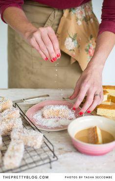 Easy Caramel Lamingtons | Recipes | The Pretty Blog