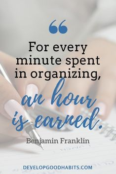 21 Success Habits of Highly Organized People quotes about organizing and planning – For every minute spent in organizing, an hour is earned. Habit Quotes, Career Quotes, Business Quotes, Success Quotes, Organization Quotes, Organizing Ideas, Productivity Quotes, Thing 1, Time Management Tips