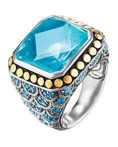 Batu Naga Ring, Blue Topaz, Size 7 by John Hardy at Neiman Marcus Last Call.