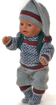 American girl doll sweater pattern - new years great winter outfit Baby Born Clothes, American Girl Clothes, Girl Doll Clothes, Girl Dolls, Diy Clothes, Knitting Dolls Clothes, Knitted Dolls, Doll Clothes Patterns, Clothing Patterns