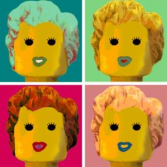 Lego Pop Art by italian artist Marco Pece.