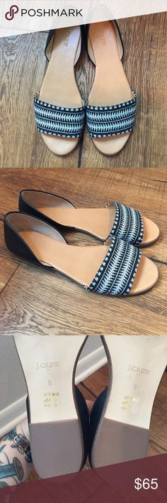 Selling this J. Crew leather sandals on Poshmark! My username is: denimandstripes. #shopmycloset #poshmark #fashion #shopping #style #forsale #J. Crew Factory #Shoes