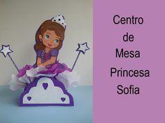 Centro de mesa Princesa Sofia (How to make a centerpiece Princess Sofia)
