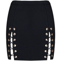 Honey couture kyla black lace up split bandage mini skirt ($139) ❤ liked on Polyvore featuring skirts, mini skirts, short mini skirts, lace up mini skirt, bandage skirt, mini skirt and bandage mini skirt