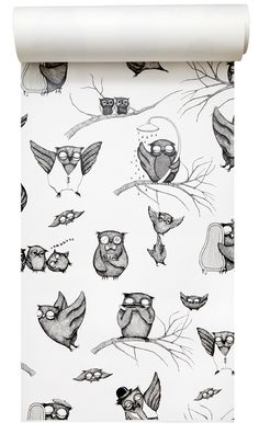Have I mentioned I LOVE owls? This is a wallpaper!