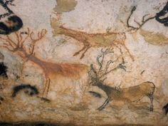 20,000 Year Old Lascaux Cave Painting Done by Cro-Magnon Man in the Dordogne Region, France