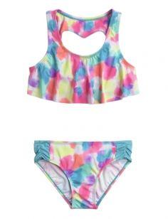 Heart Back Flounce Bikini Swimsuit. This one is my favorite❤️❤️❤️❤️