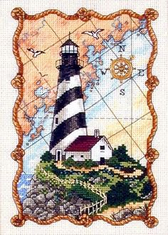 MARINER'S LIGHT Dimensions cross stitch kit OCEAN LIGHTHOUSE