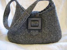 Harvest fabric from wool jackets http://www.patternpile.com/sewing-patterns/phoebe-bag-sewing-pattern-by-rebeka-lambert/