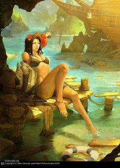 -The Shipwreck- by Marc Brunet | 2D | CGSociety via PinCG.com