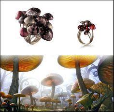 H.Stern Alice in Wonderland Mushroom ring