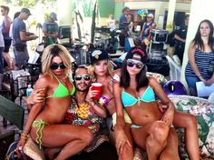 Uhh, yes... Spring Breakers cast!