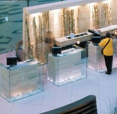 Leave It At The Reception Desk: Germany Hotel Reception Desk, Reception Desk Design, Lobby Reception, Reception Counter, Reception Areas, Bar Counter Design, Lobby Design, Foyer Design, Corporate Office Design