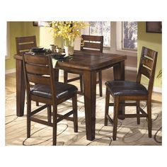 Counter-height Table Antique Wood - Signature Design by Ashley