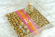 Personalized 12x12 Lucite Tray by Pretty Smitten  by PrettySmitten, $80.00