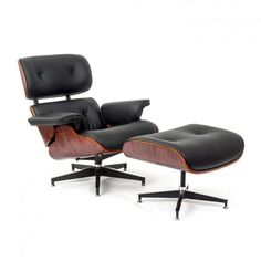 Wallace Sacks Eames Inspired Lounge Chair & Ottoman