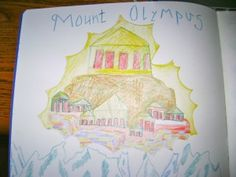 Waldorf ~ 5th grade ~ Ancient Greece ~ Mount Olympus ~ main lesson book