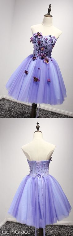 Popular flowers short tulle party dress