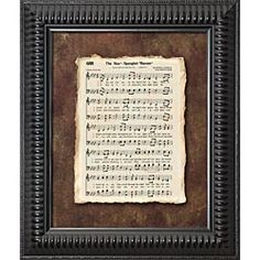 framed star spangled banner