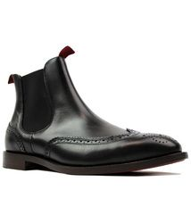 Breslin H BY HUDSON Retro Mod Brogue Chelsea Boots