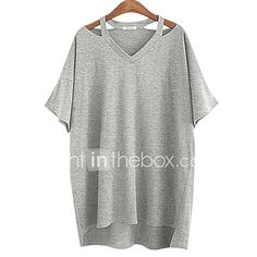 Cheap blusas plus, Buy Quality loose blouse directly from China blouses plus Suppliers: 2017 Summer Tops Women Casual Loose Blouse Batwing Sleeve V Neck Shirt Blusa Grey White Black Plus Size Plus Size Women's Tops, Plus Size T Shirts, Plus Size Casual, Casual Tops, Loose Shirts, Sexy Shirts, Basic Tops, T Shirts For Women, Clothes For Women