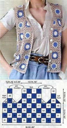 Granny Square Crochet Vest Tie We are want to say thanks if you like to share th. Granny Square Crochet Vest Tie We are want to say thanks if you like to share this post to another Crochet Waistcoat, Gilet Crochet, Crochet Vest Pattern, Crochet Coat, Granny Square Crochet Pattern, Crochet Jacket, Crochet Squares, Crochet Cardigan, Crochet Granny