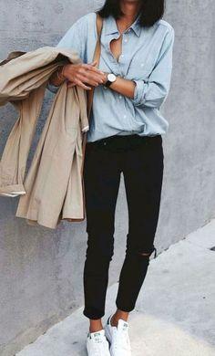Fashionable minimalist street style 26