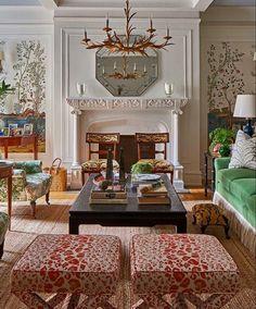 Drawing Room Interior, English Interior, Modern Home Interior Design, Interior Architecture, Classic Living Room, Traditional Interior, Beautiful Living Rooms, Beautiful Interiors, Interiores Design