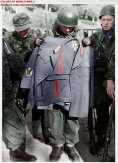Fallschirmjager with Tito's uniform