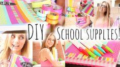 BACK TO SCHOOL: DIY School Supplies & Haul! | Aspyn Ovard