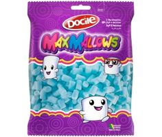 Marshmallow Mini Tubo Azul 150g Docile