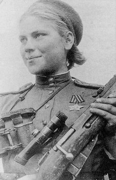 Riza Sharina, WWII Soviet sniper with 54 confirmed kills, died in battle.
