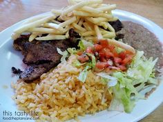 Milanesa Plate at Carnitas Uruapan | La Mesa - San Diego, CA | This Tasty Life - http://food.theplainjane.com