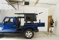 Harken Hoister Garage Storage 4-Point Lift System for Jeep® Hardtops & Recreational Equipment   Quadratec