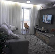Home Decoration Do It Yourself Code: 7373997843 Narrow Living Room, Small Apartment Living, Condo Living, Home Living Room, Living Room Designs, Living Room Decor, Apartment Interior, Apartment Design, Interior Design