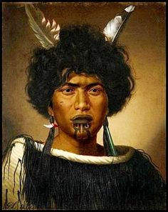 The artist Gottfried Lindauer arrived in New Zealand in 1874, possibly partly because the sale of painted portraiture in Europe was increasingly challenged by the widespread use of photography, which was less expensive to purchase. This 1876 Lindauer shows an unidentified NZ woman painted in a daring innovative style. Polynesian People, Maori People, New Zealand Art, Auckland New Zealand, Kiwiana, Woman Painting, Portrait, Journals, Jade