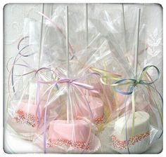 chocolate dipped marshmallow pops for baby shower favors