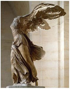 The Winged Victory of Samothrace, also called the Nike of Samothrace, is a 2nd century BC marble sculpture of the Greek goddess Nike (Victory). Since 1884, it has been prominently displayed at the Louvre and is one of the most celebrated sculptures in the world.