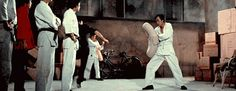 Bruce Lee was so fast, they producers had to slow down the film footage so you can see his moves.