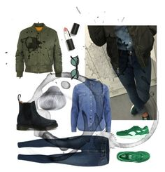 """Denim Flavour"" by a-fleur on Polyvore featuring mode, Levi's, Cheap Monday, WearAll, Puma, Dr. Martens, Sigma Beauty en Ray-Ban"