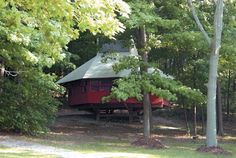 Cabtents (Cabin + Tent) at South Bass State Park on Put-in-Bay, Ohio. Great place to camp in the Lake Erie Islands!