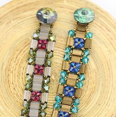 """ShiCr IDEA: Use tube beads instead of twin beads. """"Image Detail for - once more we ll be using tila beads for this class using a few ."""