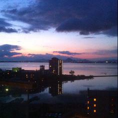 dawning sky , at Lake BIWAKO